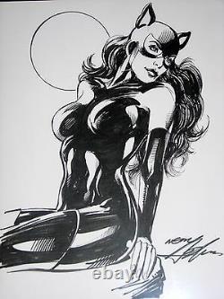 Catwoman (full Body) Original Art Commission Neal Adams- Beautiful