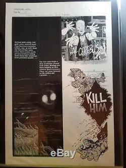 Cerebus the Aardvark original art issue 152, page 14 signed Dave Sim & Gerhard