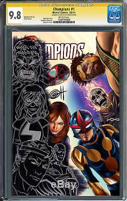 Champions #1 CGC 9.8 SS REMARKED WONDERIFIC PTE LTD store variant by GREG HORN