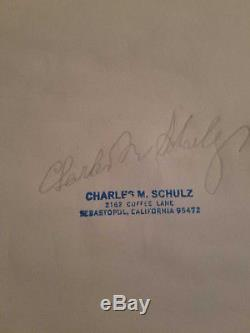 Charles Schulz original drawing Comic Art Signed-Charlie Brown, Snoopy, Peanuts
