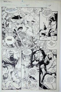 Charles VESS 1987 THOR MF 35 original comic art (Buscema Kirby Wrightson)