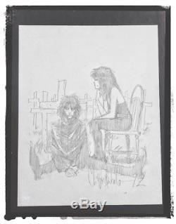 Chris Bachalo, Death & Sandman Original Pencil Sketch, Morpheus DC Vertigo