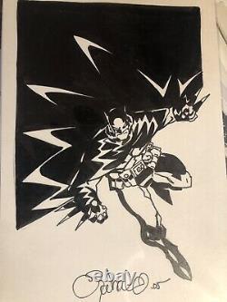 Chris Bachalo Original Art Batman Sketch Dc Comics