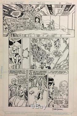 Comic Art Original The New Teen Titans #33 p. 2 Erik Larsen/Romeo Tanghal
