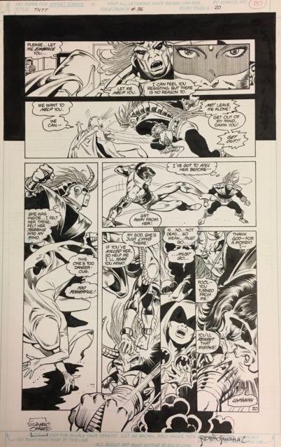 Comic Art Original The New Teen Titans#36 P. 20- Eduardo Barreto/romeo Tanghal