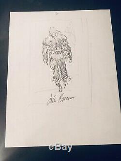 Conan Hand-Sketch Signed art by John Buscema (RIP) Pencil & Marker 8.5X11 RARE