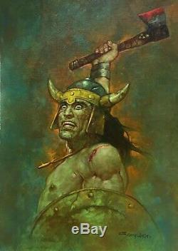 Conan Original Oil painting Sanjulian hand signed