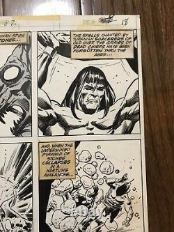Conan The Barbarian #87 Pg. 18 Original Art Rare Tony DeZuniga Marvel Comics