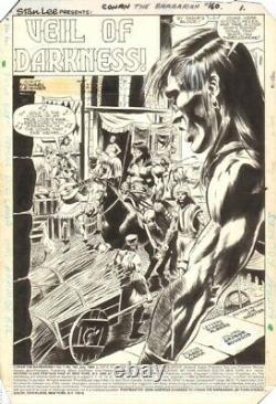 Conan the Barbarian #160 page 1 by Bob Camp and Armando Gil TITLE PAGE 1984