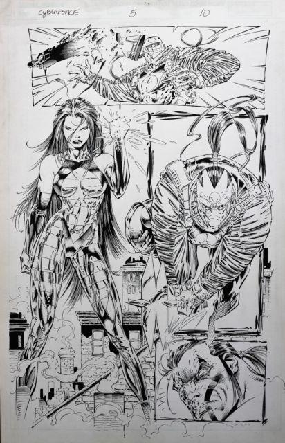 Cyberforce #5 Original Comic Art Marc Silvestri Scott Williams Cyblade Image