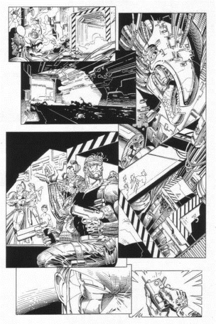Cyberforce #7 P. 20, Sick Detail, Art By Marc Silvestri