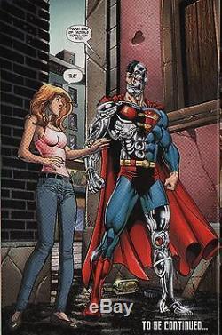 Cyborg Superman Splash Original Art, Dan Jurgens-2010-free Shipping