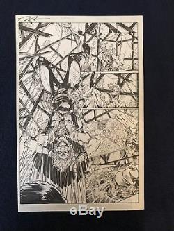 D. C. Teen Titans Issue 15 Page 15 Original Artwork Brett Booth