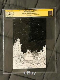 DANIEL WARREN JOHNSON Original Art TOTORO CGC SS Sketch Signed hayao miyazaki 1