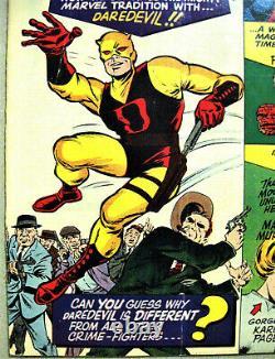 DAREDEVIL# 1 Apr 1964 Origin 1st Daredevil Kirby/Everett Cover/Art KEY 8.0 VF