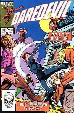 DAREDEVIL #201 ORIGINAL Comic ART PAGE 26 with BLACK WIDOW 1983 Marvel Comics