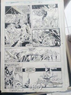 DAREDEVIL #306 PAGE 9, SCOTT MCDANIEL, spider-man team up VERY GOOD CONDITION