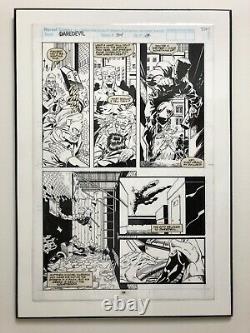 DAREDEVIL #314 (Vol. 1 1964 Series) ORIGINAL ART BY SCOTT MC DANIEL LAMINATED
