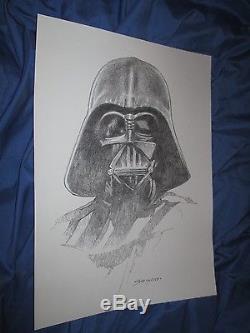 DARTH VADER Original Art Sketch by Sanjulian Star Wars/Comic/Movie/Marvel