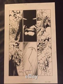 David Finch Original Art Page- Batman #5 Rebirth (bats In 5 Panels)