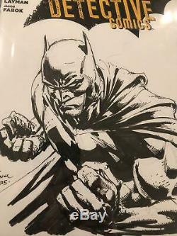 DAVID FINCH ORIGINAL Sketch Art CGC 9.8 Signed Batman Harley Quinn Joker Comic