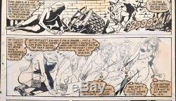 DAZZLER #6 Original Comic Art, last page with Hulk app. Marvel Comics