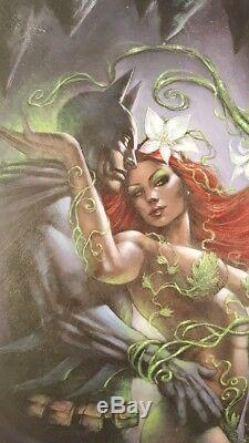 DC COMICS BATMAN & POISON IVY Original Art Painting by Lucio Parrillo GOTHAM