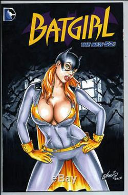 DC Comics BATGIRL #1 Original Art Sketch BATMAN ROBIN JOKER HARLEY QUINN GOTHAM
