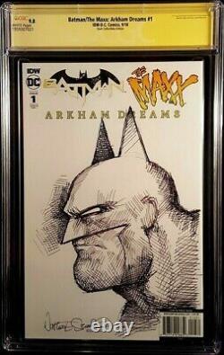 DC Comics BATMAN MAXX ARKHAM DREAMS #1 CGC SS 9.8 Virgin + Original Art Sketch 1