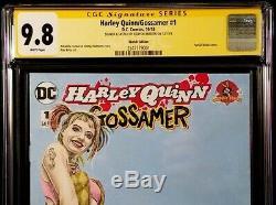 DC Comics HARLEY QUINN GOSSAMER #1 CGC SS 9.8 Original Art Sketch BATMAN JOKER 2