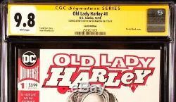 DC Comics OLD LADY HARLEY #1 CGC SS 9.8 Original Art Sketch BATMAN JOKER QUINN
