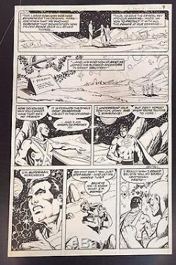 DC Comics Superman & Martian Manhunter #27 Original Comic Art page Jim Starlin