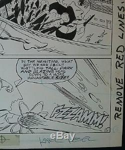 DC Legends original art John Byrne, Karl Kesel Firestorm