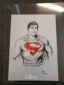 DC Superman Gary Frank bust sketch 12x8 1/2 inch