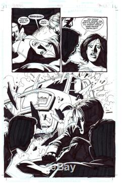 DC Vertigo PREACHER #52 Steve Dillon ORIGINAL ART Garth Ennis 1/2 SPLASH Page PG