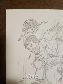 DICK AYERS original art SGT NICK FURY pencil sketch 8×10 MARVEL COMICS Kirby