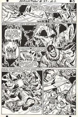 DICK DILLIN HAWKMAN #27 Hawkgirl DC Original Comic Book Silver Age Art 1968