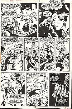 DON HECK GIANT-SIZE DEFENDERS #5 Hulk Dr Strange MARVEL Original Comic Art 1975