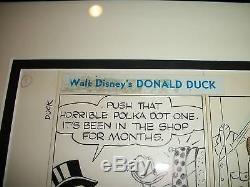 DONALD DUCK Original ART Newspaper Comic STRIP Disney UNCLE SCROOGE McDUCK 1974