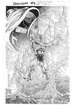 Doom 2099 #33 Captain America Published Cover Art Original Pat Broderick