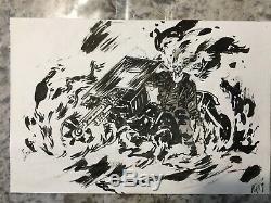 Daniel Warren Johnson Ghost Rider Commission Sketch Original Art Skywalker