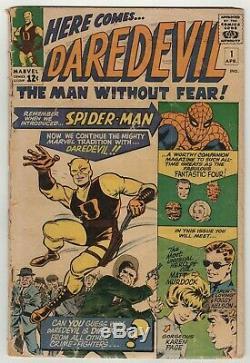 Daredevil (1964) #1 Origin & 1st App Bill Everett Cover & Art Jack Kirby Good