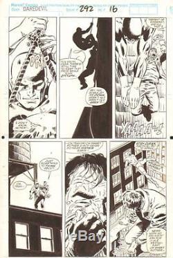 Daredevil #292 p. 16 DD Interrogates Bad Guy 1991 Signed art by Lee Weeks