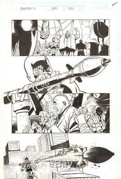 Daredevil #380 p. 26 Daredevil, Kingpin, & Bullseye 1998 art by Lee Weeks