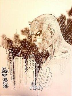 Daredevil by Jim Lee Marvel Comics Headsketch Signed Sketch / Original Art