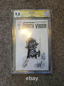 Darth Vader #1 CGC SS 9.8 Skottie Young original art sketch Star Wars MARVEL
