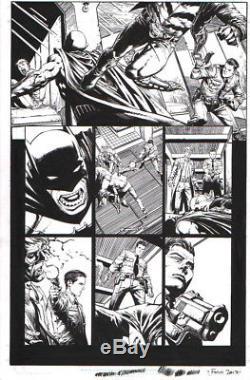 David Finch 2017 Batman, Bronze Tiger Original Art-signed-free Shipping