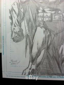 David Finch Batman Full Cover Quality Original Commission -11 X 17- Amazing