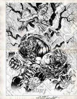 David Finch Original Art Comic Con SDCC Sketch Drawing signed autograph Jim Lee
