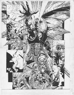 David Finch Original Comic Book Art Ascension Double Page Splash